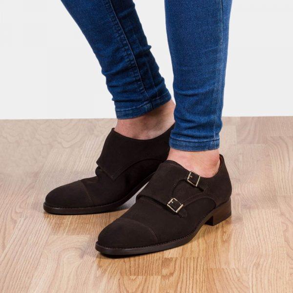 zapatos vestir ante café