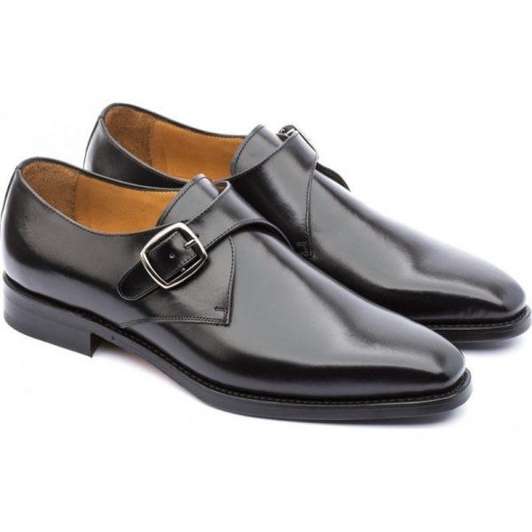 zapatos hebillas vestir negro