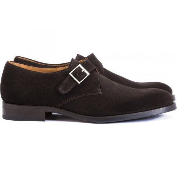 zapatos hebillas ante café