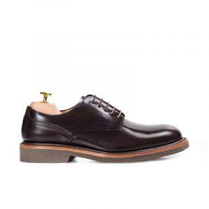 zapato piel hombre caoba