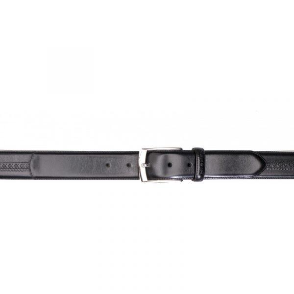 Cinturón piel negro con picado
