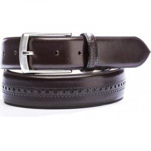 Cinturón chocolate con picado