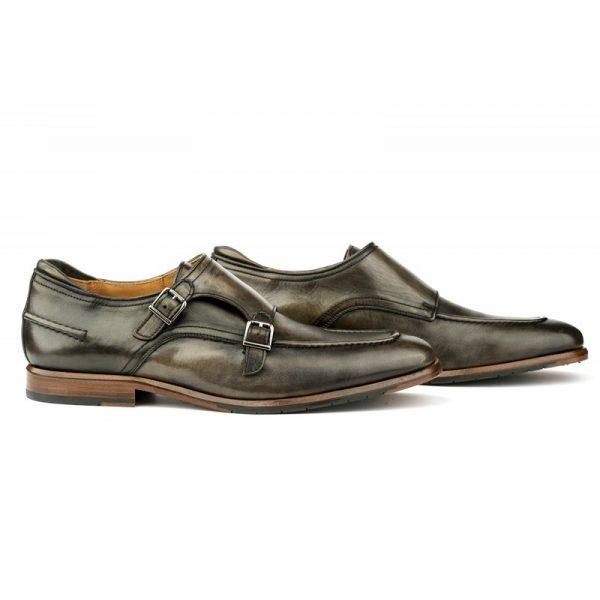Zapato doble hebilla negro -Dominic-
