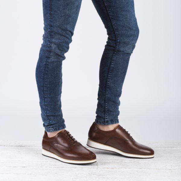 zapato casual piel marrón