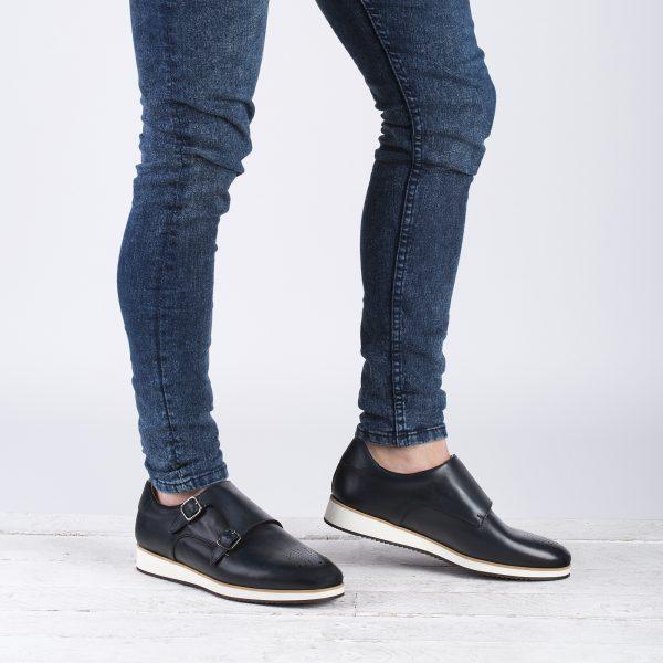 zapatos piel casual marino