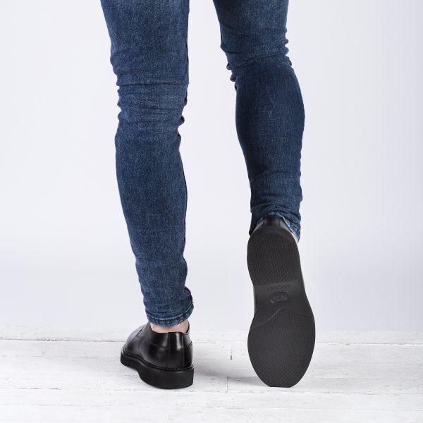 zapato piel hombre negro