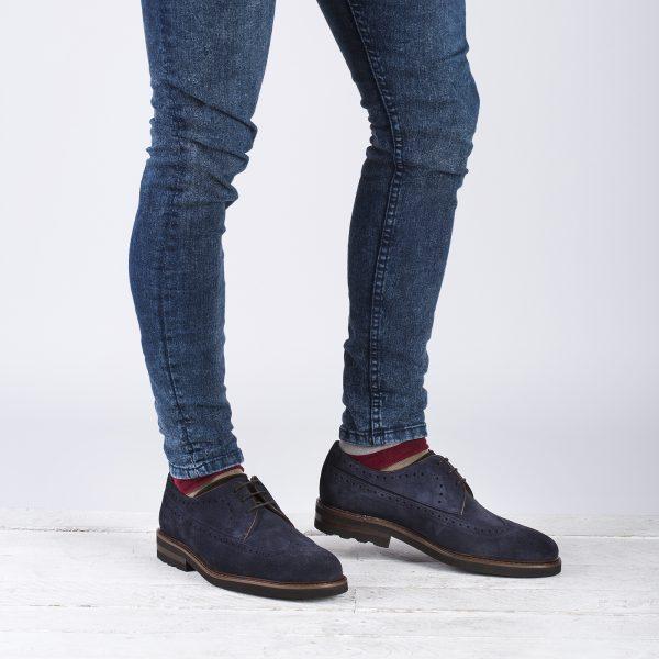 zapato casual piel marino
