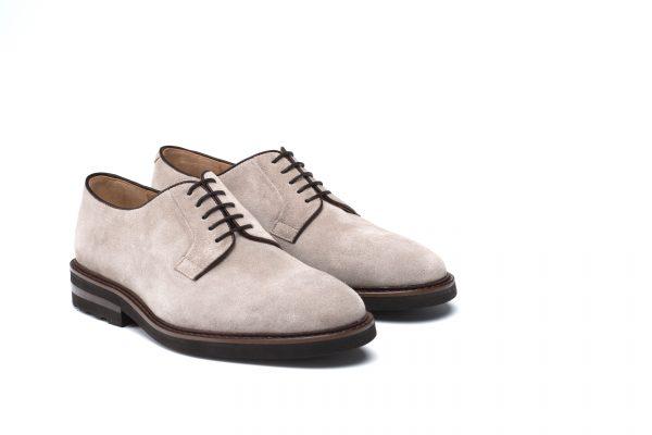 zapato piel hombre taupe