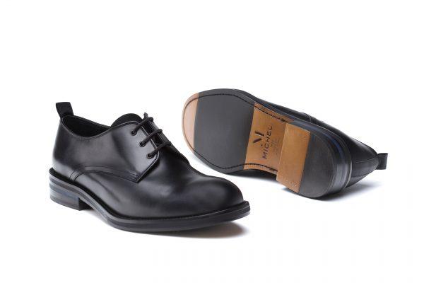 zapatos piel cordones negro