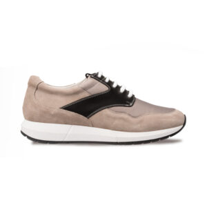zapato deportivo piel gris